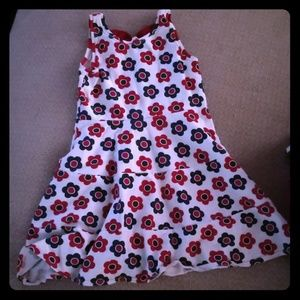 Tiered patriotic dress with bow